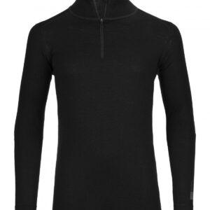 Ortovox Merino 185 Pure Long Sleeve Zipper black raven S