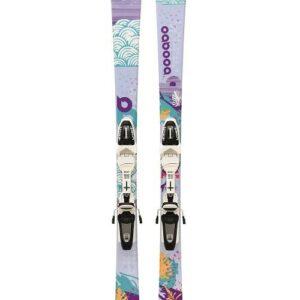 Booabo set dětské lyže + vázání