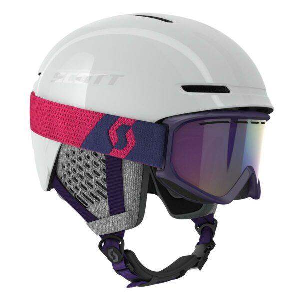 Lyžařská sada SCOTT - helma Track + brýle Fact
