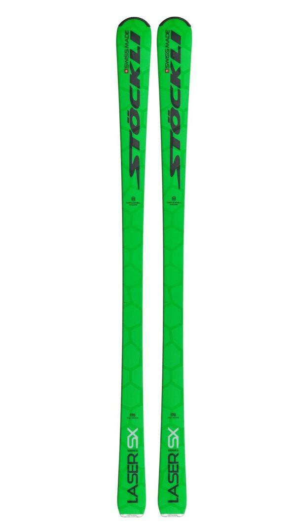 Stöckli Sjezdové lyže Laser SX + vázání Salomon I SP12 Ti green S75 2018_2019